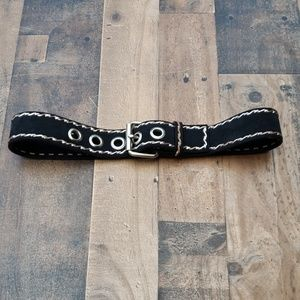 Black Leather Belt Sz S